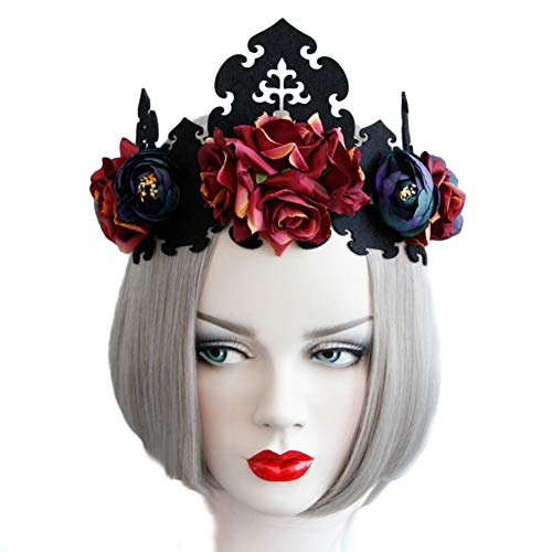 MioCloth Flower Headband Rose Crown Halloween Party Cosplay Costumes Hair Accessories ()