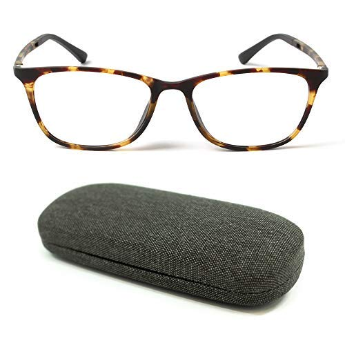MIDI High Quality Blue Light Blocking Reading Glasses for Men (M-316) with a Hard Shell Eyeglass Case / TR90 Frame (Tortoise Brown,+1.50)(m316c3-150)