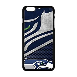 SKULL Seattle Seahawks Fashion Comstom Plastic case cover For Iphone 6 Plus