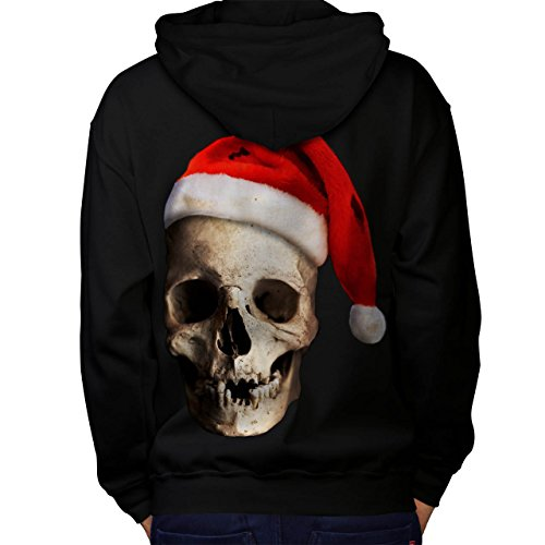 Mistle Toe Hat (Skull Hat Santa Christmas Men M Hoodie Back | Wellcoda)