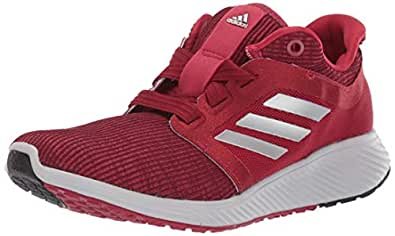adidas Women's Edge Lux 3 Running Shoe, Active Maroon/Silver Metallic/Grey, 5 M US