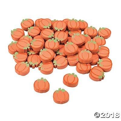 (Fun Express Wooden Craft Pumpkins - 50 PC - Self adhesive - 3/4 inch)
