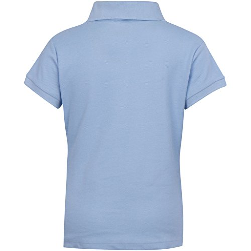 Premium Short Sleeves Junior Polo Shirts Light Blue 3X by Premium (Image #1)