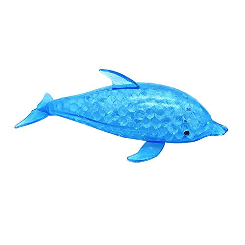 (CMrtew ❤️ 2018 Kids Funny Antistress Toy Spongy Shark Dolphin Bead Stress Ball Toy Kid Adult Squeezable Stress Relief Fish Gift (Dolphin, 5.91 inch))