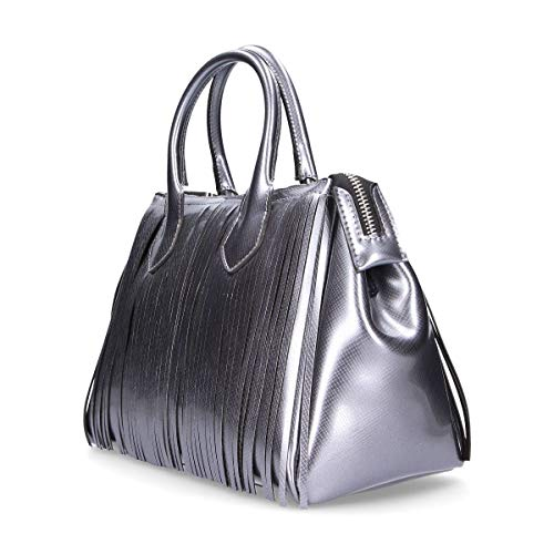 Donna Borsa A Gum Pelle Argento Mano Bs3700t9907 wtFZa