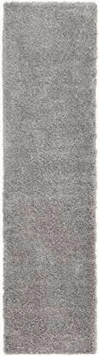Unique Loom Luxe Solo Collection Plush Modern Gray Runner Rug (3' x 10') from Unique Loom