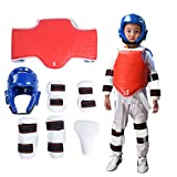 Sparring Gear Set, Durable Men Shin Guards Taekwondo Headguard Groin Guard Arm B