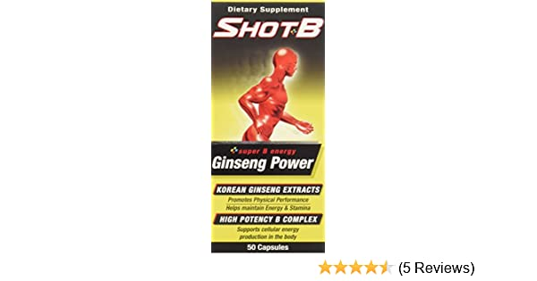 Amazon.com: Shot B Multivitamin Supplement with Ginseng Capsules, 50 Count: Health & Personal Care