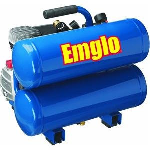 Emglo E810-4V 4-Gallon Heavy-Duty Oil-Lube Stacked Tank Air Compressor by Emglo