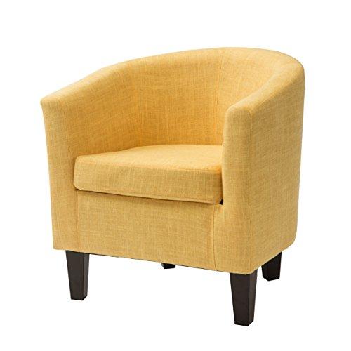 CorLiving LAD-788-C Antonio Club Chair Yellow