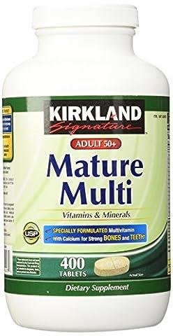 Kirkland Signature Mature Adult Multi Vitamin Tablets - 400 ct (Mature)