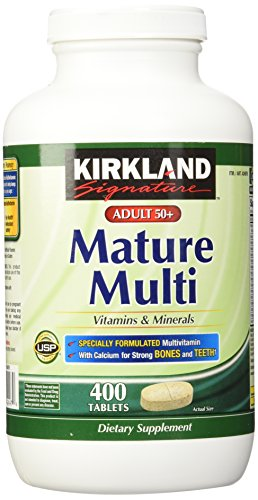 Kirkland Signature Mature Adult Multi Vitamin Tablets – 400 ct