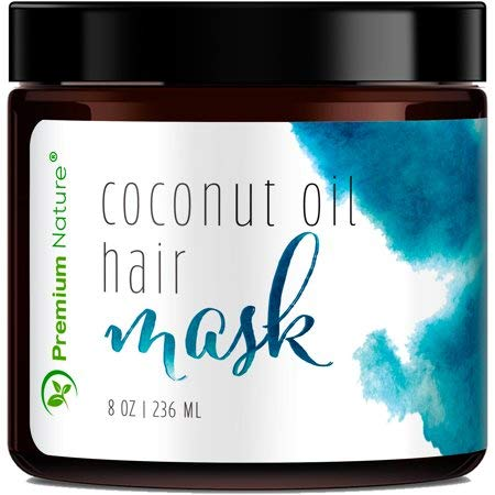 Deep Conditioning Hair Mask Treatment - 100% Natural Hair Mask Treatment For Dry Damaged Hair Deep Conditioner Hair Masks Coconut Hair Mask For Hair Growth Moisturizer Hair Care (Coconut Hot Oil Treatment For Hair Growth)