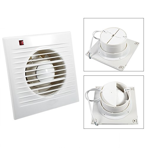 Extractor Fan, 4'' 6'' Ventilating Exhaust Extractor Fan For Bathroom Toilet Kitchen Window Wall Mounted(6寸) by Estink (Image #3)