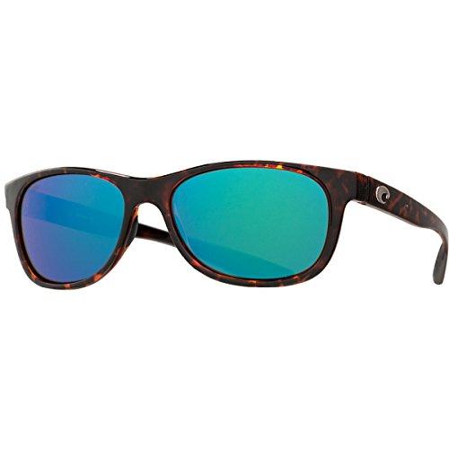 Costa Prop Sunglasses Tortoise Frame Green Mirror