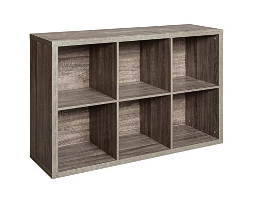 ClosetMaid 1326 Decorative 6-Cube Storage Organizer, Weathered Gray (Wood Storage Unit)