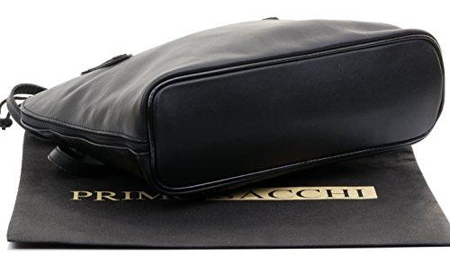comprend protection Noir Primo en marque sac manche de cuir bandoulière un à main souple rangement de de sac à Sacchi® italien long grand à gRrwg6