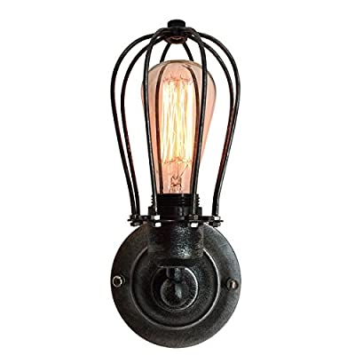 LightingWorld UPL3 Wall Lamp Vintage Industrial Cage Light Wall Sconce