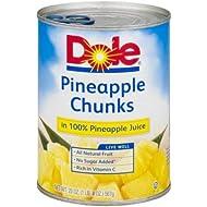 Pineapple Chunks In 100% Pineapple Juice (Pack of 2)