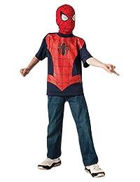 Rubies Costume Marvel Ultimate Spider-man T-Shirt and Mask, Child Medium - Child Medium One Color