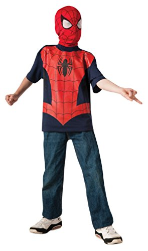 Rubie's Marvel Ultimate Spider-man T-Shirt and Mask, Child Small - Child Small One Color