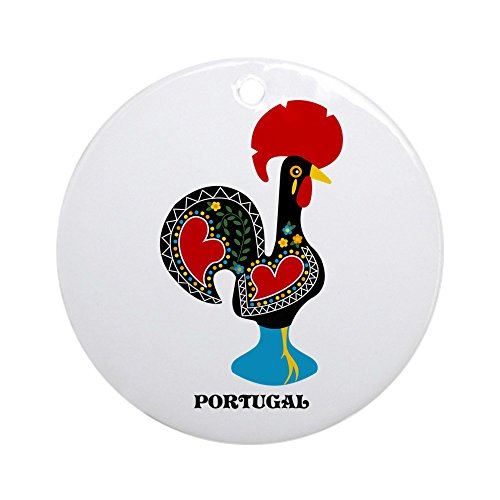 CafePress - Portuguese Rooster Of Luck Ornament (Round) - Round Holiday Christmas Ornament
