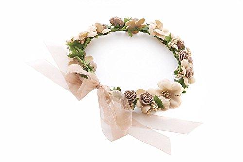 Dancing Dolls Halloween Costumes ((J&J World) Flower Headband Headwear for wedding, dance, live, festival and party)