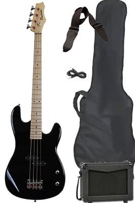 Davison Guitars Full Size Electric Bass Guitar Starter Beginner Pack with Amp Case Strap Package