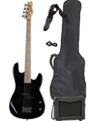Full Size Electric Bass Guitar Starter Beginner Pack with Amp...