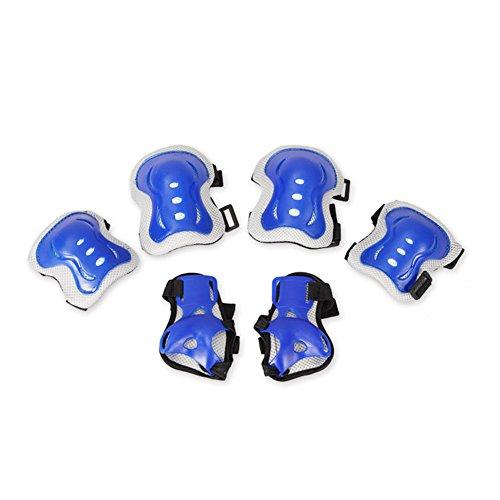 XUERUI Ensemble De Protection Pour Genou, Coude Et Poignet Pour Patins Bmx 6pc Pour Enfants ( Couleur : Bleu )