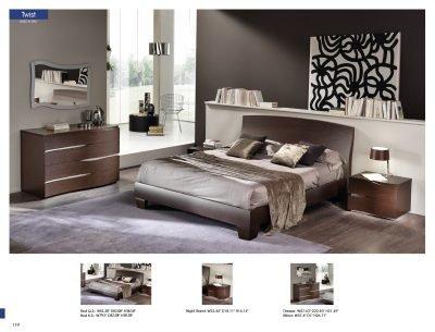 Amazon.com: Twist Modern Bedroom Set by ESF: Kitchen & Dining