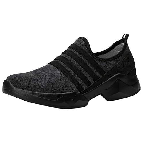 Bkolouuoe Womens Breathable Air Cushion Sneakers Casual Comfortable Slip On Loafers Lightweight Running Work Sport Shoes Black (Waterproof Furniture Outdoor Uk For Cushions)