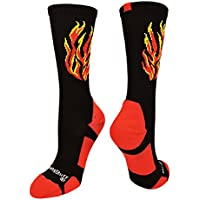 MadSportsStuff Flame Athletic Crew Socks (Multiple Colors)