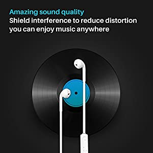 Lumsing Bluetooth Stereo Headphone Wireless Sport Earphone with Mic(Bluetooth 4.1,5 Hours Play Time,Noise Cancelling ),White