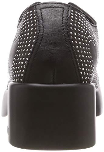 Zapatos Moschino nero De Mujer Scarpad Cordones Para Derby Love Negro Vitello urban50 000 xIfgdWqU