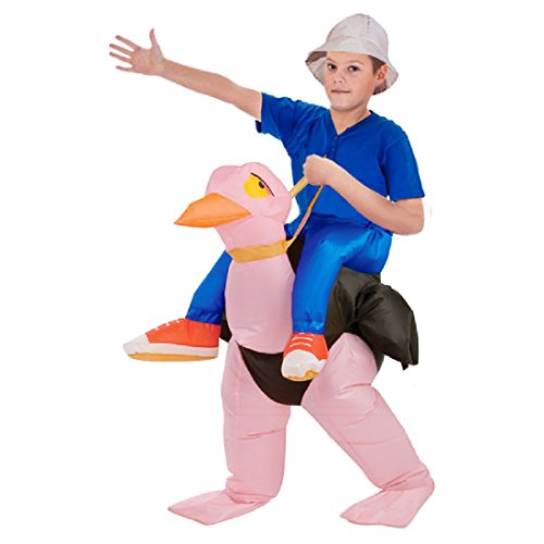 Halloween Costumes Riding Ostrich (Inflatable Ostrich Fancy Dress Costume Hen Stag Halloween Cosplay 40 To 50 Inch)