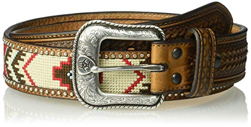 Ariat Men's Arrow Billet Ribbon Center Belt, Multi/Color, 34
