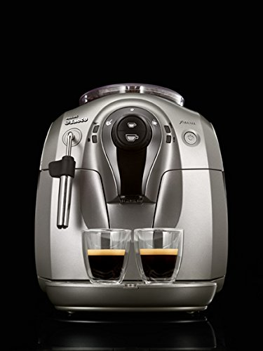 Philips Saeco HD8745/57 Chrome Expresso Machine, X-Small, Silver