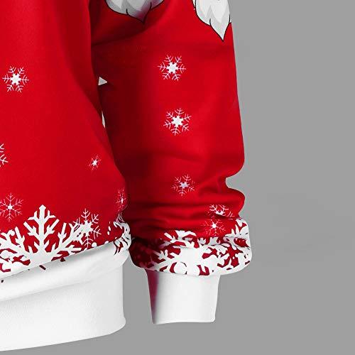 Sweat Longue No Rovinci pre l Joyeux Impression Manche l Femmes Rouge No T Oblique Bretelles Mode Chemisier Shirt Collier Shirt sans 8qt8apxwS