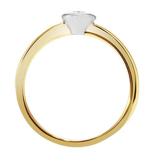 Diamond Line - 111106 - Bague Femme - Or Jaune 14 Cts 585/1000 3.2 Gr - Diamant
