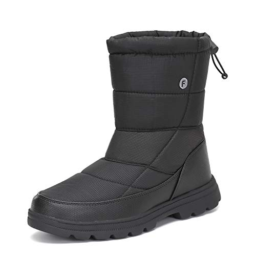 Womens Mens Winter Mid-Calf Snow Boot Fur Warm Waterproof Slip On Outdoor Athletic Casual Walking