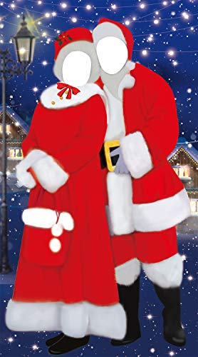 Christmas Photo Door Banner Backdrop Props - Xmas/Winter/Holiday Party Hanging Decorations/Supplies/Favors (Photos Cutouts Christmas For)
