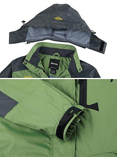 da Donna Sport Erba Stagione Cappuccio Giacca Impermeabile Leggera Antivento Sci Mezza Wantdo Verde vwx6500