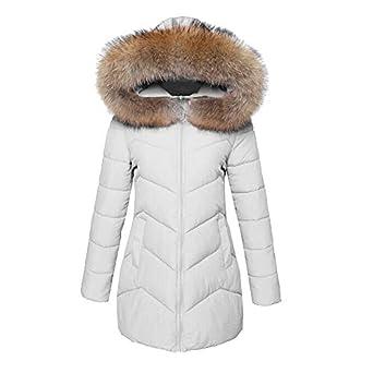 Linlink Mujeres Invierno cálido Abrigo de Piel de imitación Capucha Gruesa Caliente Delgada Chaqueta Larga Abrigo: Amazon.es: Ropa y accesorios