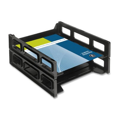 Letter Tray, Front Load, Stackable, Black [Set of 2] (Front Load Desk Tray compare prices)