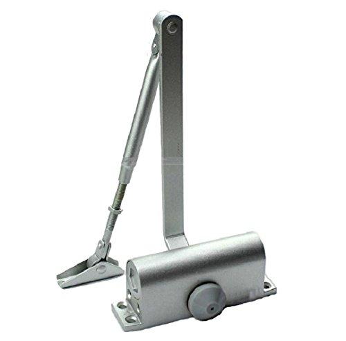 HOMEE Door Closer Satin Stainless Steel Aluminum Alloy Door Accessory with Hydraulic Hinge 2...