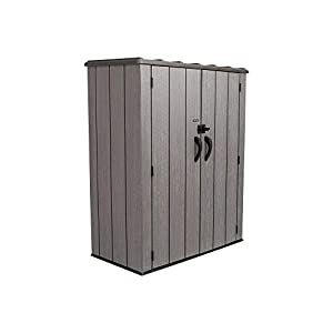 Lifetime-Vertical-Storage-Shed-53-Cubic-feet-Roof-Brown-74-x-142-x-174-cm