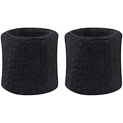 geshiglobal 2Pcs Cotton Wristbands Wrist Band Bands Sweatbands Sweat Band for Sport Tennis Estimated Price £1.31 -