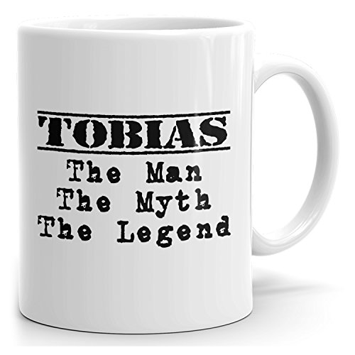 Tobias tea mug - The Man The Myth The Legend - at Home or in the Office - 15oz White Mug