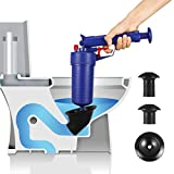 Bert Toilet Plunger, Air Drain Blaster, Pressure Pump Cleaner, High Pressure Plunger Opener Cleaner Pump for Bath Toilets, Bathroom, Shower, Kitchen Clogged Pipe Bathtub (Blue-NEW)